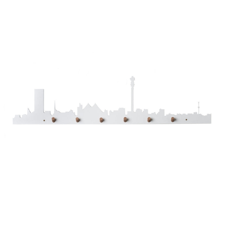 Johannesburg Skyline Wall Hook White - KNUS