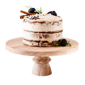 Short Oak Cake Stand - KNUS