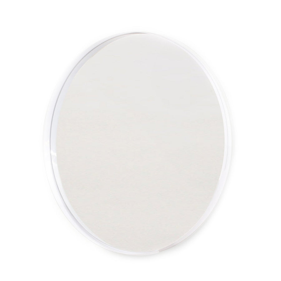 Giant White Deep Frame Circular Wall Mirror - KNUS