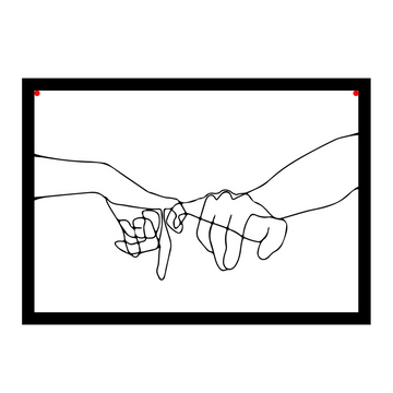 Pinky Promise Steel Wall Art - KNUS