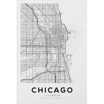 Chicago Map Art Print - KNUS