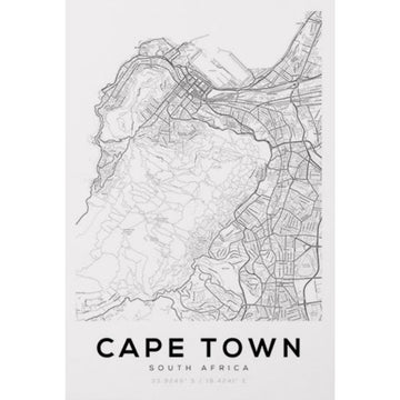 Cape Town Map Art Print - KNUS