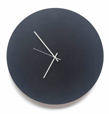 Large Solid Black Board Wall Clock - KNUS