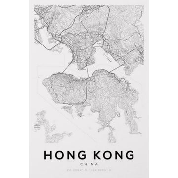 Hong Kong Map Art Print - KNUS