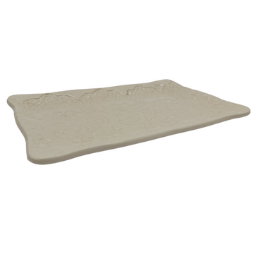 Small White Lace Rectangular Platter - KNUS
