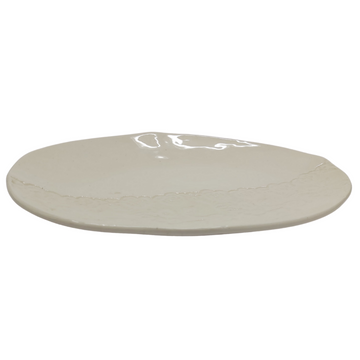 Large White Lace Oval Platter - KNUS