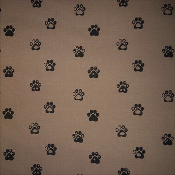 Paw Prints Mud Fabric (Per Meter) - KNUS