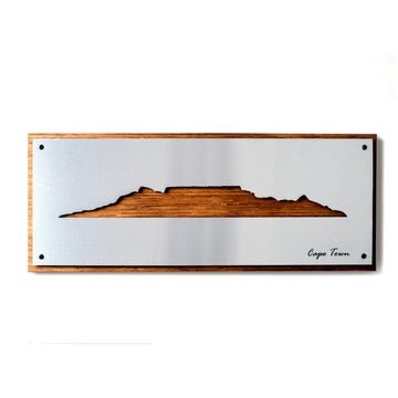Cape Town Skyline Brushed Aluminium - KNUS