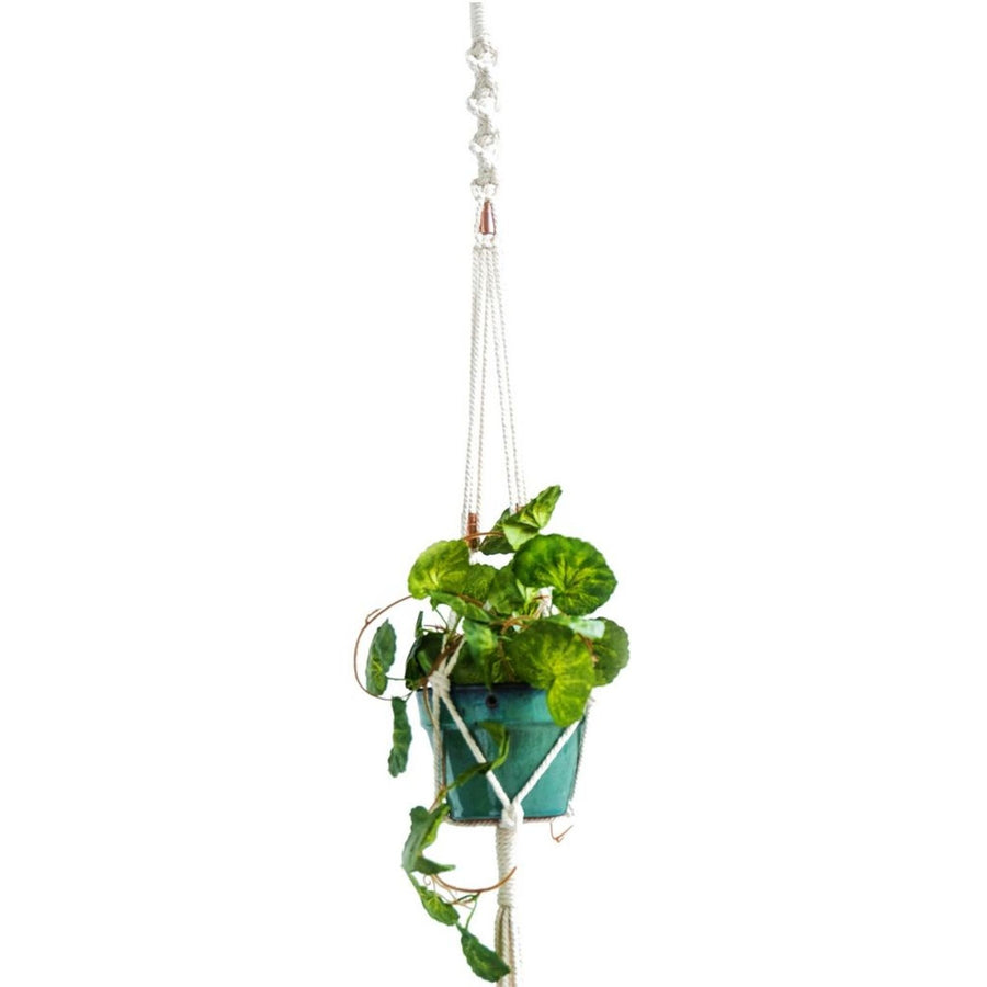Modern Natural Copper Macrame Plant Hanger