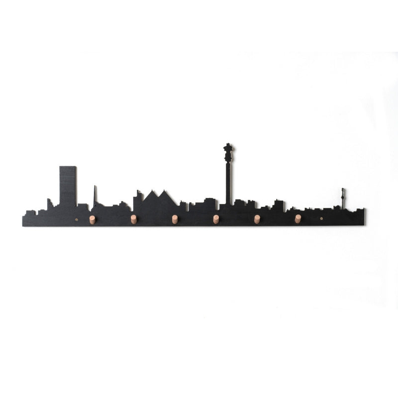Johannesburg Skyline Wall Hook Black - KNUS