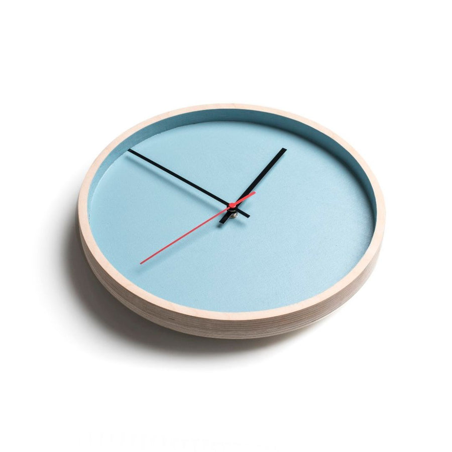 Turquoise Deep Frame Round Clock