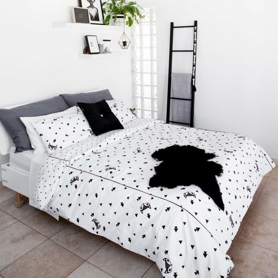 Fox and Triangle Duvet Cover