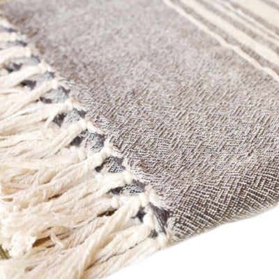 African Contemporary Towel Charcoal - KNUS