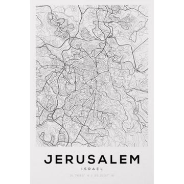 Jerusalem Map Art Print - KNUS