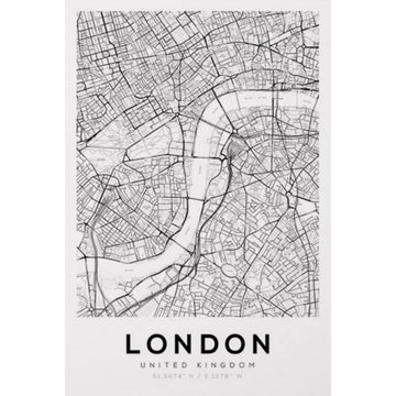 London Map Art Print - KNUS