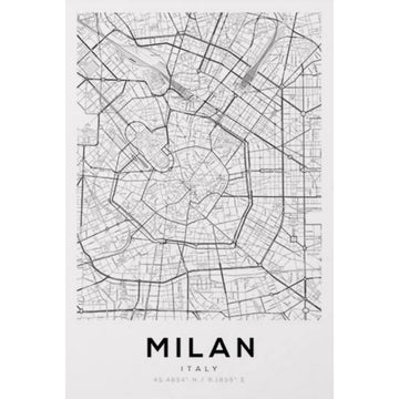 Milan Map Art Print - KNUS