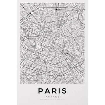 Paris Map Art Print - KNUS