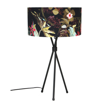 Hibiscus Black Mia Table Lamp - KNUS