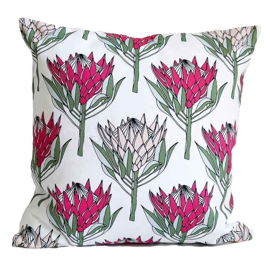 King Protea Pink on White - KNUS