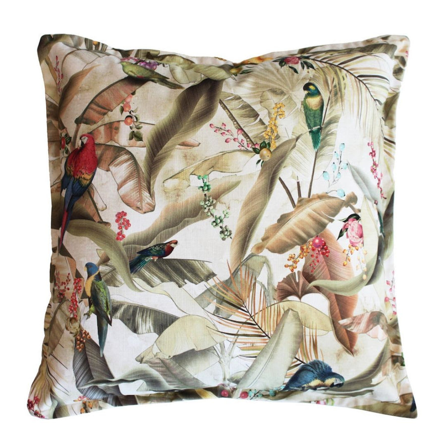 Macaw Parchment Scatter Cushion - KNUS
