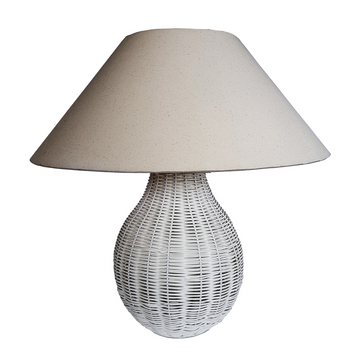 Woven White Table Lamp - KNUS