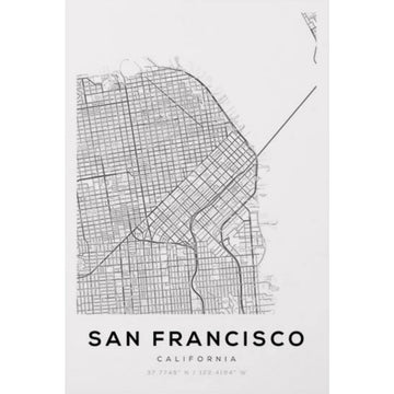 San Francisco Map Art Print - KNUS