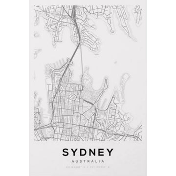 Sydney Map Art Print - KNUS