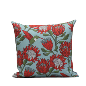 Protea Blue Scatter Cushion - KNUS