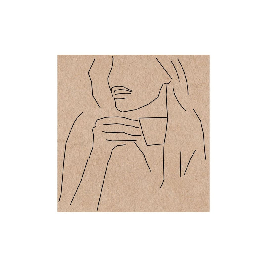 Woman Drinking Coffee Art Print