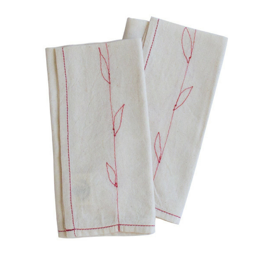 Red Leaves Napkin set - KNUS