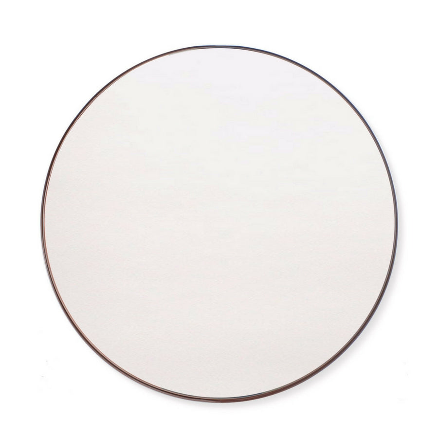 Steel Copper Deep Frame Circular Mirror