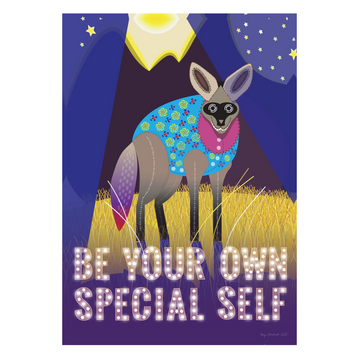 Be Your Own Special Self | Bat-eared Fox Mindfulness Print - KNUS