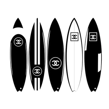 Chanel Surf Art Print - KNUS
