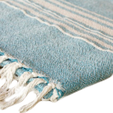 African Contemporary Towel Teal - KNUS