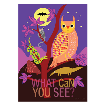 What Can You See? | Owl Mindfulness Print - KNUS