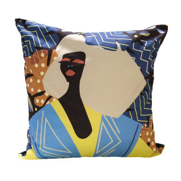 Urban Jungle Girl Blue Haven Scatter Cushion Cover - KNUS