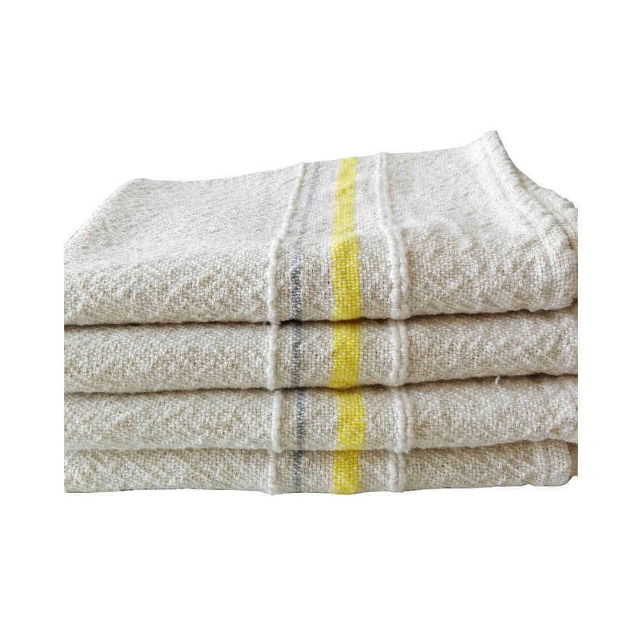 French Country Tea Towel Yellow & Grey - KNUS