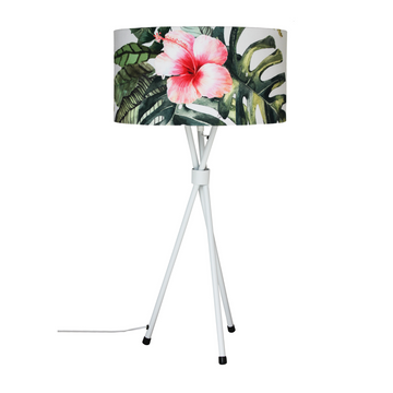 Hibiscus White Mia Table Lamp - KNUS