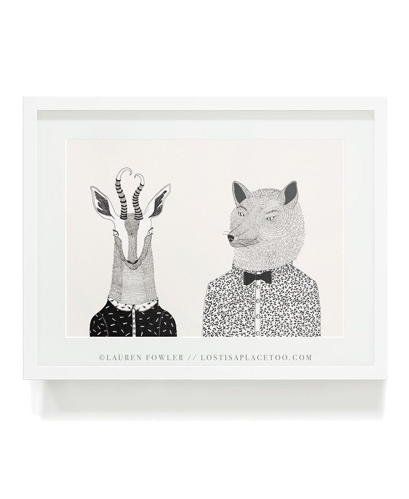 Bokkie and Wolf Art Print