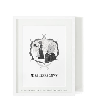 Miss Texas 1977 Art Print