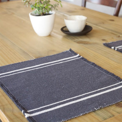African Contemporary Placemats Charcoal - KNUS
