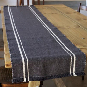 African Contemporary Table Runner Charcoal - KNUS