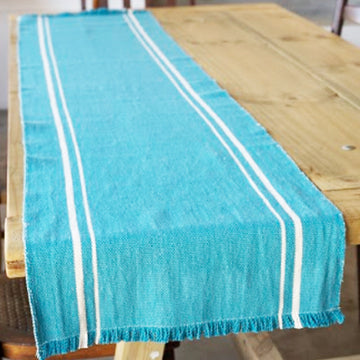 African Contemporary Table Runner Teal - KNUS