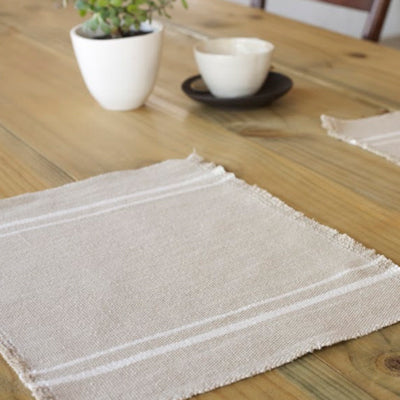 African Contemporary Placemats Stone - KNUS