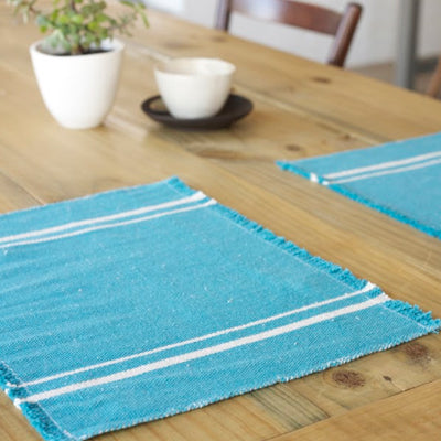 African Contemporary Placemats Teal - KNUS