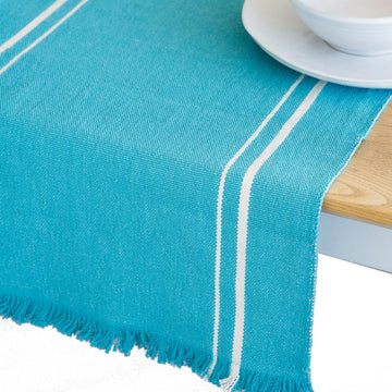 African Contemporary Table Runner Teal