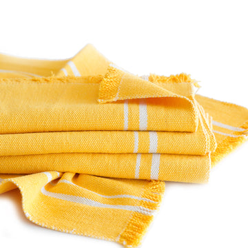 African Contemporary Table Runner Yellow - KNUS