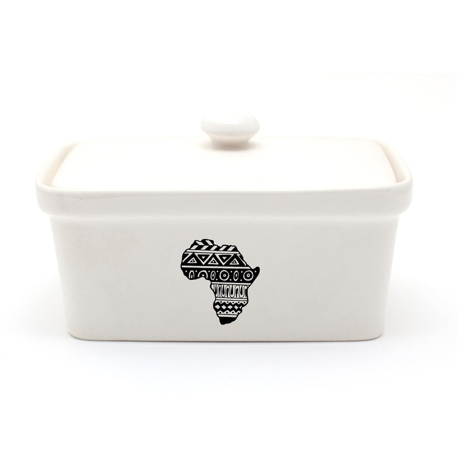 African Tales Ceramic Butter Dish - KNUS