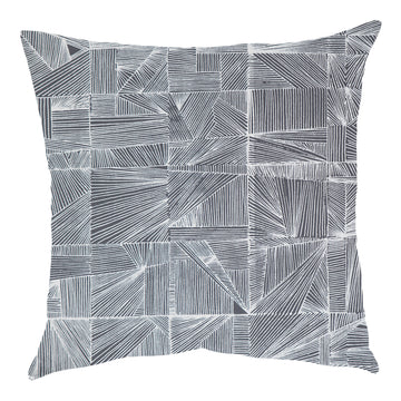 Geo White on Grey Scatter Cushion - KNUS