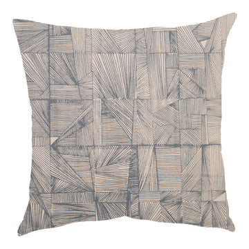 Geo Grey on Natural Scatter Cushion - KNUS